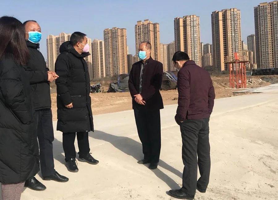 市住建局副局长赵一鸣检查指导公司疫情防控和项目复工情况